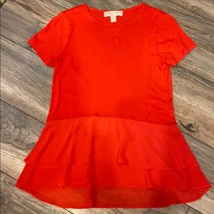 NWOT Michael Kors bright orange/coral tee